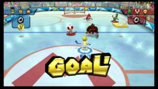 Classic Game Room - MARIO SPORTS MIX for Wii review, HOCKEY!