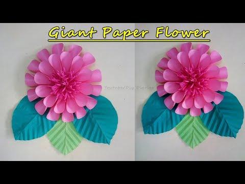 DIY Giant Paper Flower(Big Paper Flower) | Flower Backdrop Tutorial