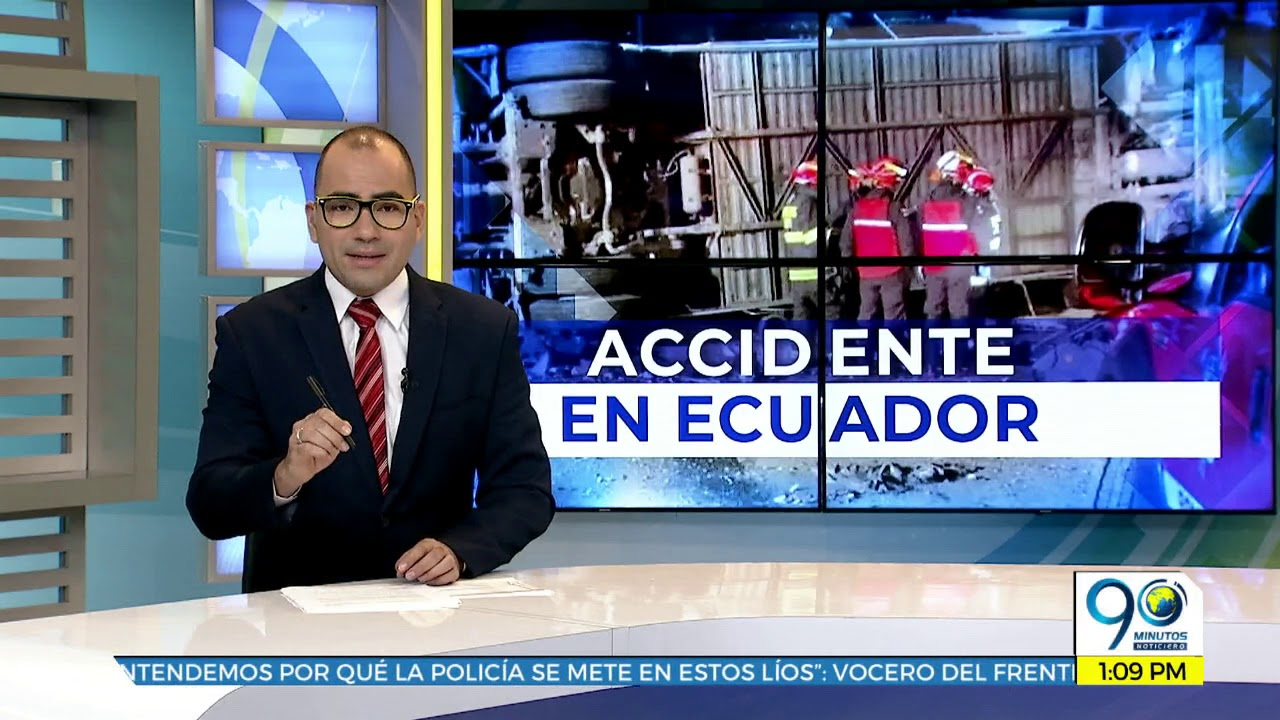 Un grupo de caleños viajaba en bus que se accidentó en Quito