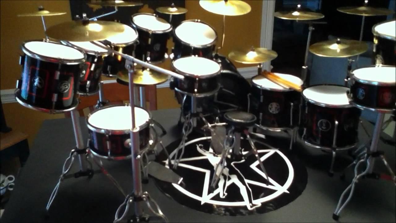 Rush Neil Peart Miniature R30 Drum Kit Youtube