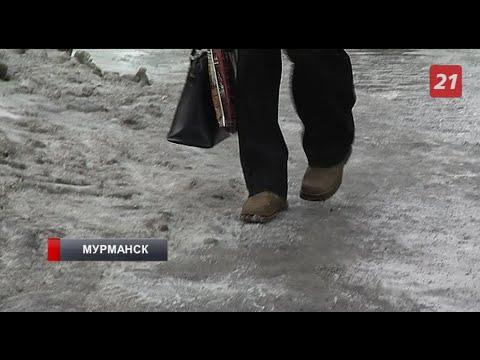 Улицы Мурманска превратились в каток