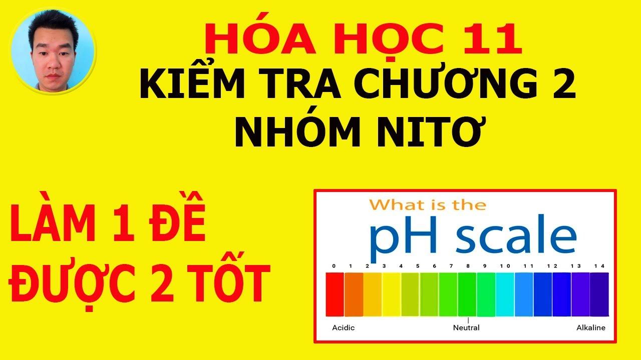 Hóa học lớp 11: Kiểm tra trắc nghiệm chương 2 – nhóm nitơ