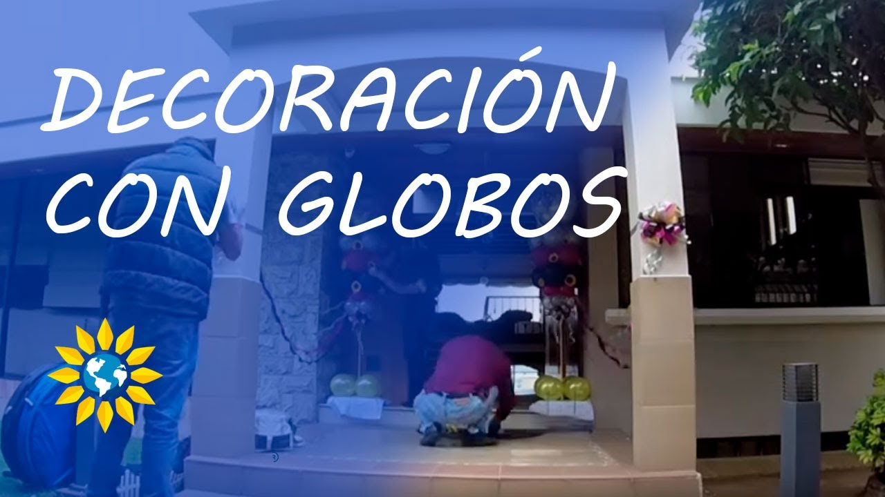 Decoraci n con globos para cumplea os youtube for Decoracion de puertas para cumpleanos