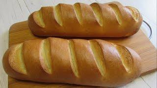 Хлеб белый батон молочный Домашний белый хлеб рецепт