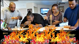 SPICY KOREAN NOODLE CHALLENGE [EXTREME]
