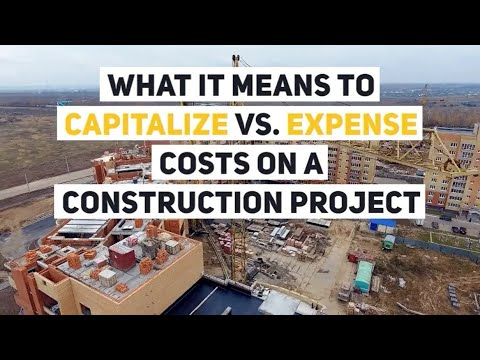 When to Capitalize vs  Expense Costs on a Construction Project