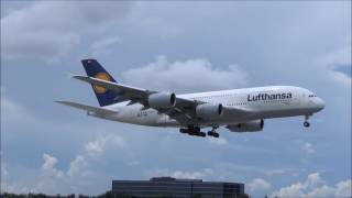 CLOSE CALLS!!! A380 AND 747 Do Go-Around at Miami International Airport