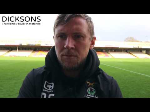CaleyJagsTV : Richie Foran Match Reaction v Motherwell : 15/04/17