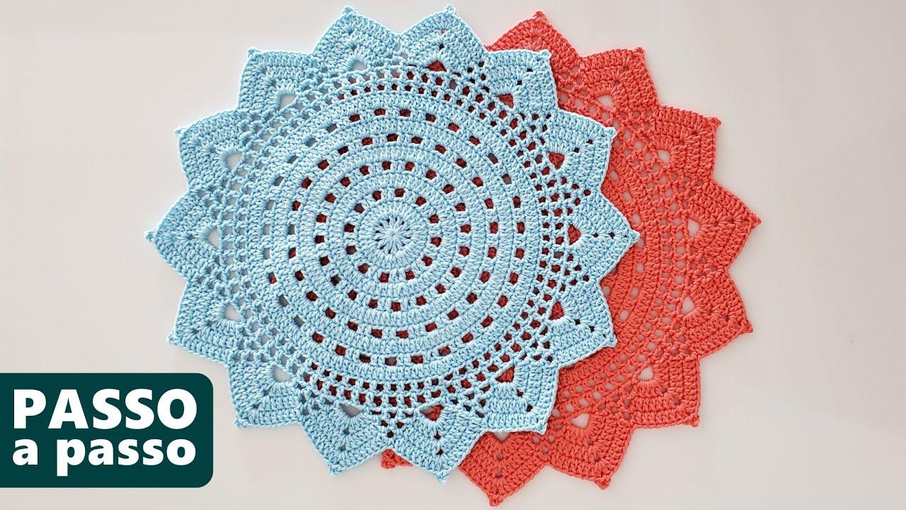 Veja Como Fazer Sousplat De Croche Passo A Passo E Aproveite Para Conferir Ideias Simples Jogo Americano De Croche Sousplat Croche Sousplat De Croche Quadrado