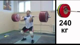 Ilya Ilin 196 Snatch and 240 Clean and Jerk (with slow motion)