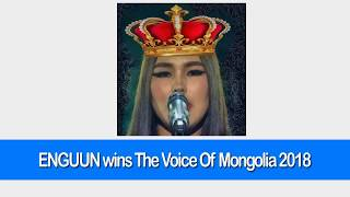 Gambar cover Enguun Wins The Voice Of Mongolia 2018
