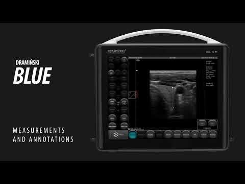 Part 5. Measurements And Annotations. DRAMIŃSKI BLUE Portable Ultrasound Scanner.