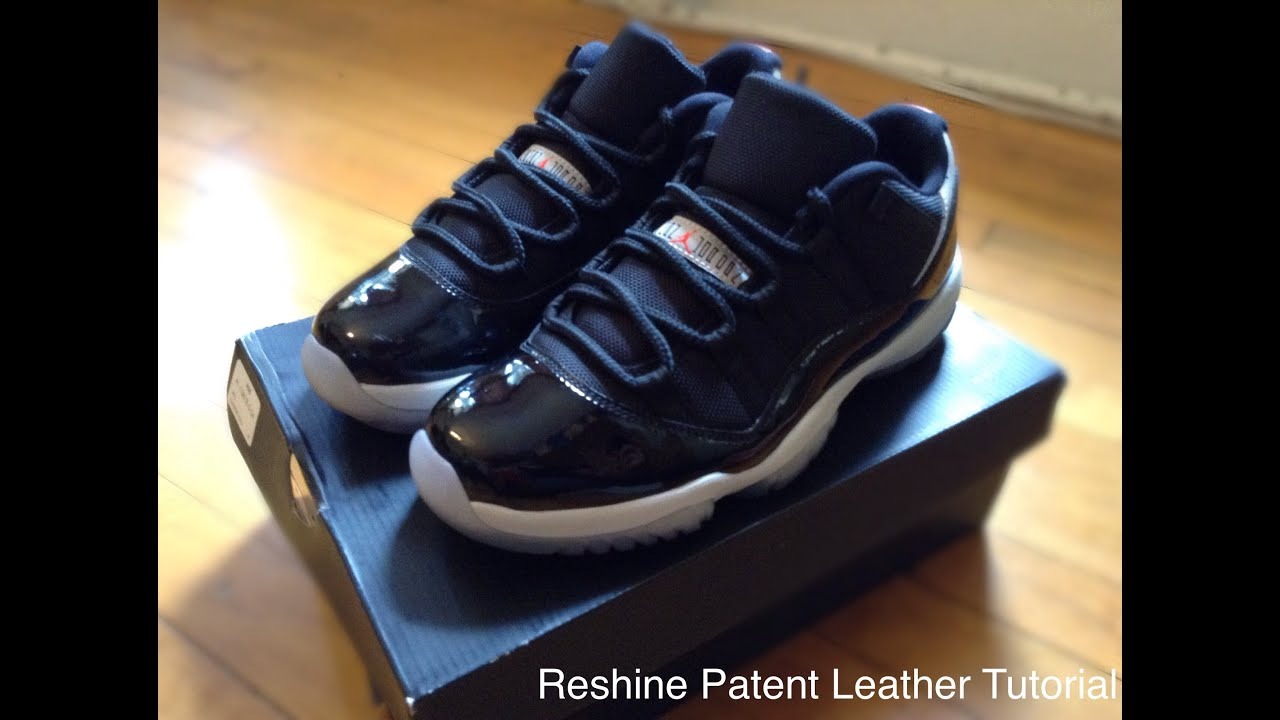 02e05321366 Reshine Patent Leather Tutorial (Ft.Jordan 11 Infrared) - YouTube