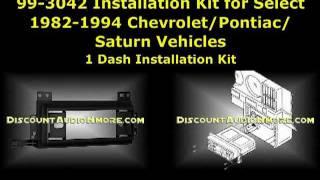 99-3042 $12.95 82-94 Chevrolet/GMC/Pontiac/Saturn Dash Kit 993042 Single DIN Installation Kit Metra