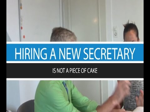 A funny video about hiring a suitable secretary