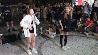 20190801 홍대 버스킹 공연 댄스팀 클락 지은, …