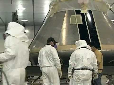 Air Force Crew Prepares Orion Crew Module Flight Test Vehicle for Painting.