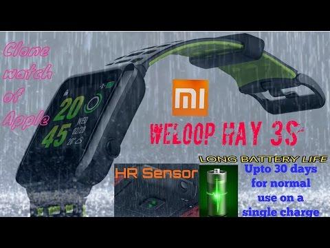 50 meters depth waterproof smartwatch with Heart rate senser  # xaiomi's  weloop Hey 3S