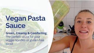 Vegan Pasta Sauce  - Green, Creamy & Comforting - Perfect with Veggie Noodles or Gluten Free Pasta