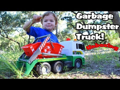Garbage Truck Videos For Children l Dickie Toy Recycling Container Garbage Truck UNBOXING l GTR