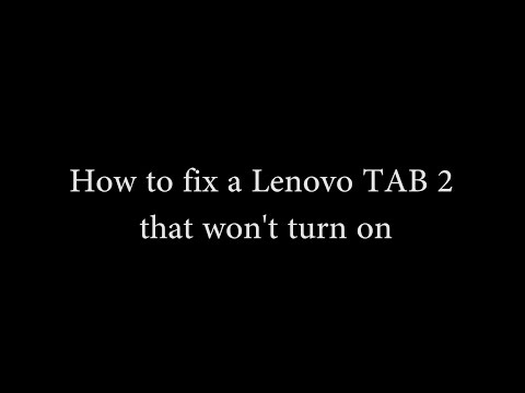 [Solved] How To Fix A Lenovo Tablet That Won't Turn On