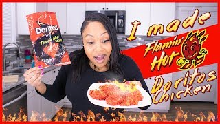 (2019) COOKING TUTORIAL VIDEO 😋 | (FLAMIN HOT DORITOS CHICKEN) | HOW TO | #NOWITSHOT