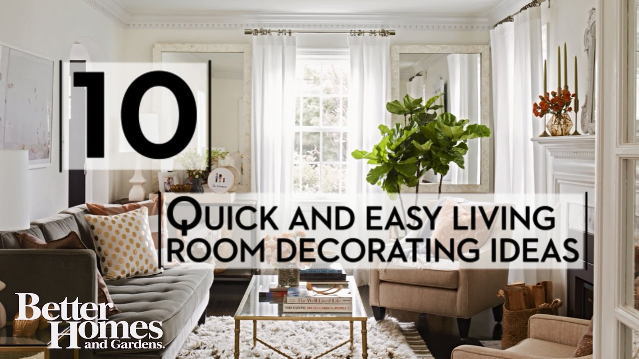 Quick and easy living room decorating ideas youtube for Easy living room designs