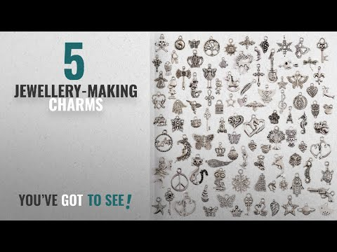 Top 10 Jewellery-Making Charms [2018]: JaneDream Wholesale 100 Pieces Tibetan Silver Plated Mixed