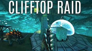 CLIFFTOP ROCKET RAID w/ Thrown Stegos - Official 6 Man Tribes (E32) - ARK Survival
