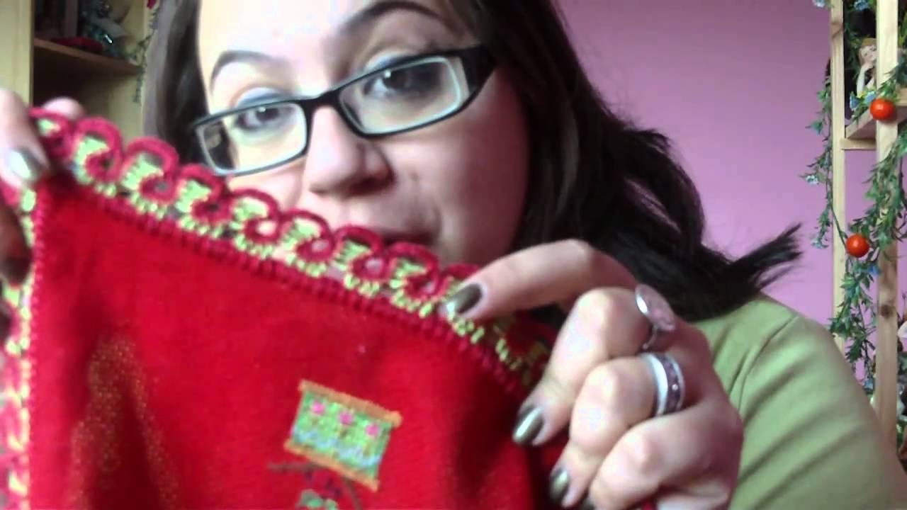 Mini mantel navidad a punto de cruz youtube - Manteles para navidad ...