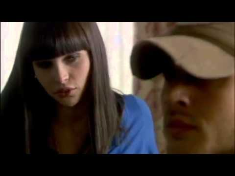 """Have you got an erection?"" Zoe (Felicity Jones) flirts/teases the handyman (Tom Hardy) -MEADOWLANDS"