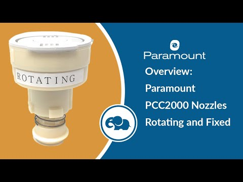 Paramount PCC2000 Nozzles Rotating and Fixed