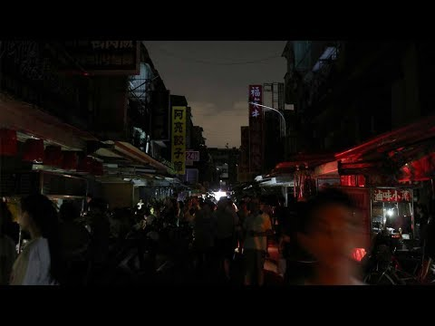 Millions of people were left in the dark as a massive power cut hit Taiwan