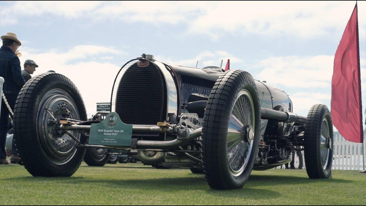 The gathering of four Type 59 Bugattis