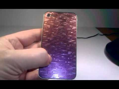 gold red purple blue 3D chameleon color changer mosaic skin for iPhone 4, 4S, 4G