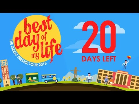 20 days to go before The Great Freshie Tour 2015!