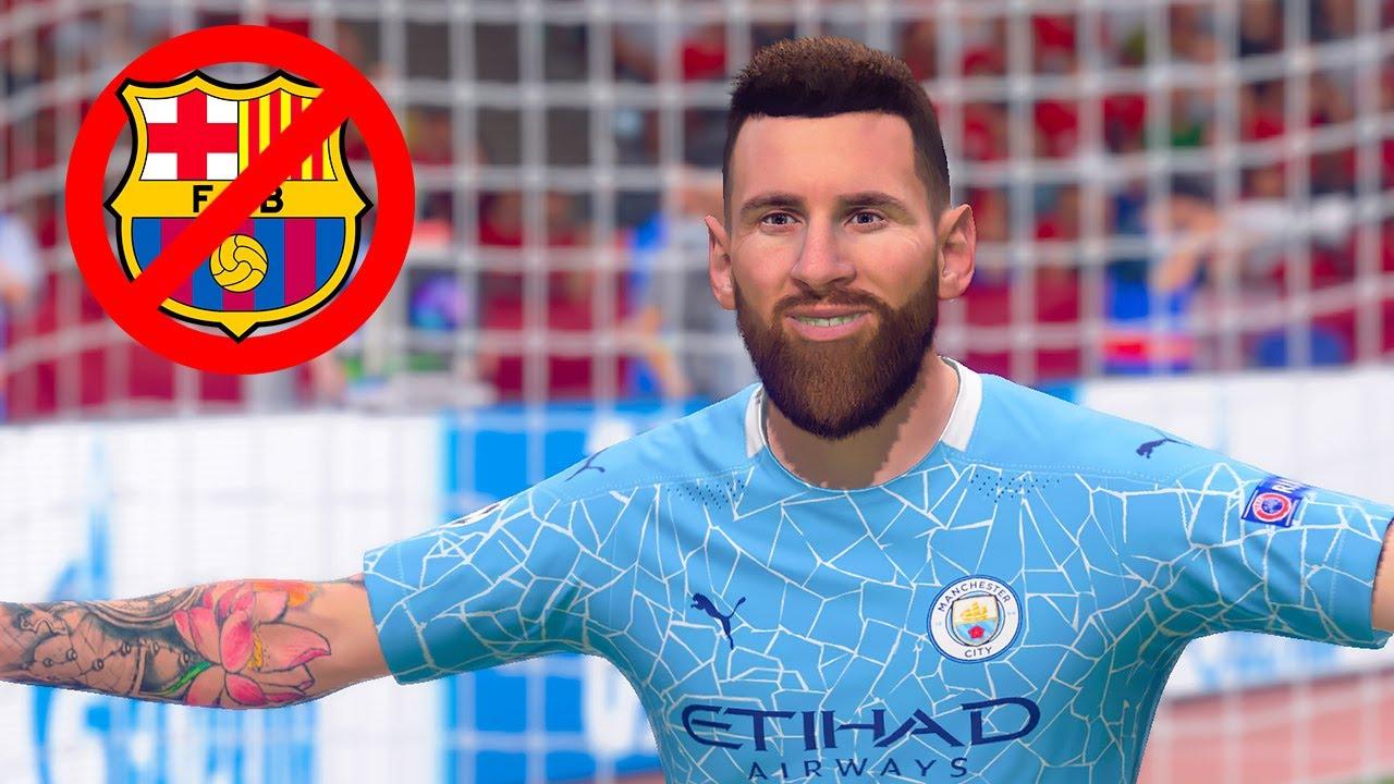 Qué pasaría si MESSI se hubiera ido al MANCHESTER CITY (FIFA 21)