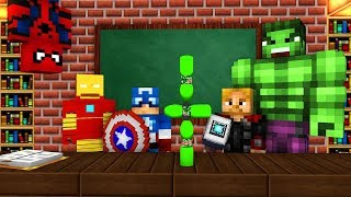 Monster School : MARVEL'S AVENGERS BOTTLE FLIP CHALLENGE - Minecraft Animation