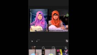 Tutorial Vivavideo (menggabungkan 2 video) by Isma