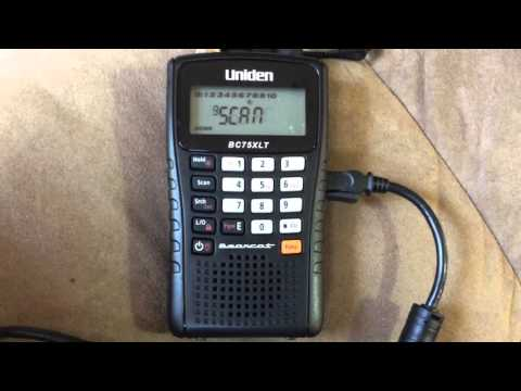 Quick setup of the Uniden BC75XLT Portable Police Scanner