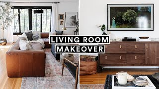EXTREME LIVING ROOM MAKEOVER + DIY Decor Hacks (From Start to Finish)