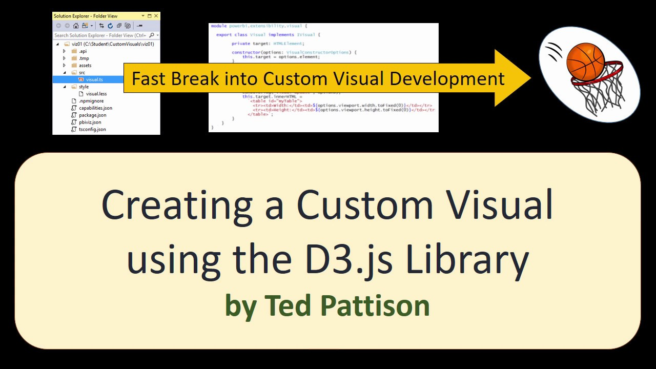 08 Creating a Custom Visual using the D3 Library