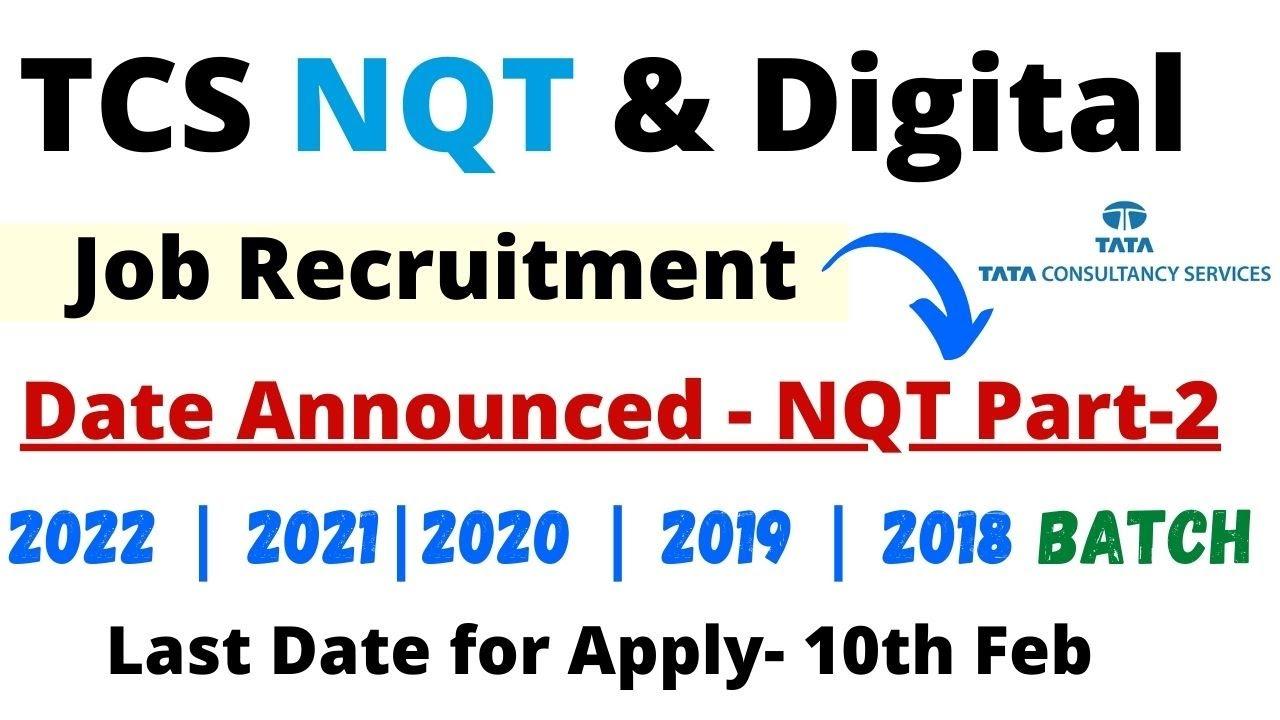 TCS NQT 2021 Exam Data Announced - Tcs Off campus Recruitment 2022 | 2021 | 2020 | 2019 | 2018 Batch