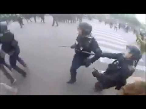 France against Job Act and brutal police- French revolution- loi travail #2