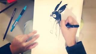 Drawing Ariana Grande (by Felipe Tozi)