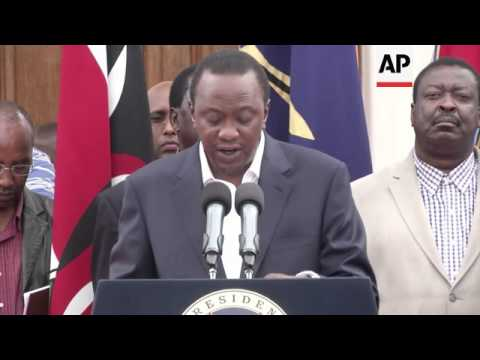 President Kenyatta condemns mall attack saying it is despicable and beastly