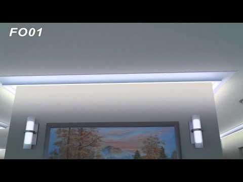 Dodatkowe Listwy LED oświetleniowe sztukateria, LED strip lightning, crown AU54