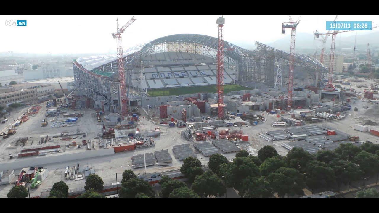 Stade v lodrome travaux du 10 06 au 28 07 2013 youtube for Porte 7 stade velodrome