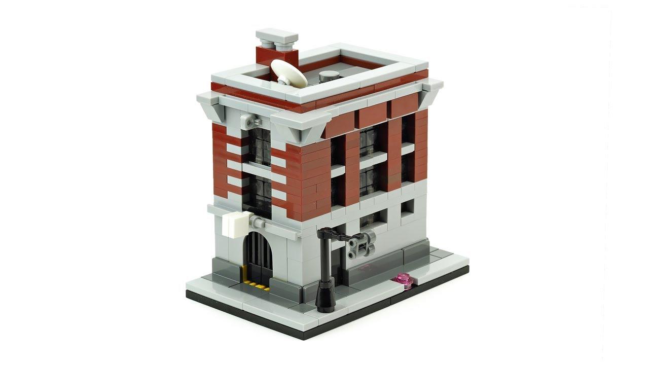 Lego Firehouse Headquarters Moc Building Instructions Youtube