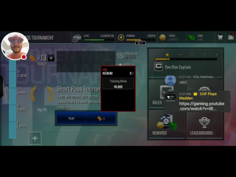 CHF Short Pass Tournament Stream - Attempt 2
